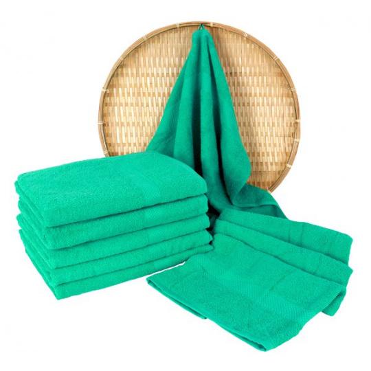 Miętowy ręcznik kąpielowy Frotte - 70x140 cm