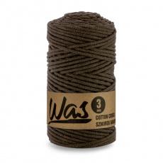 Sznurek bawełniany 3mm, 100m Ciemny brązowy