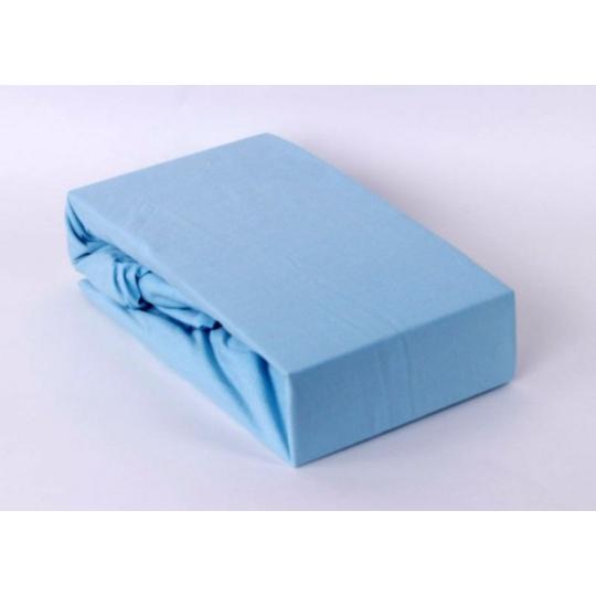Jersey prostěradlo jednolůžko Exclusive - modrá 90x200 cm  varianta modrá