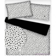 Tkanina bawełniana wzór czarny mini Galaxy na białym tle