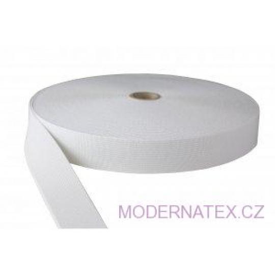Gumka odzieżowa, szer. 30 mm - Biała, 25 m
