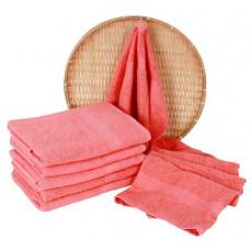 Koralowy ręcznik kąpielowy Frotte - 70x140 cm