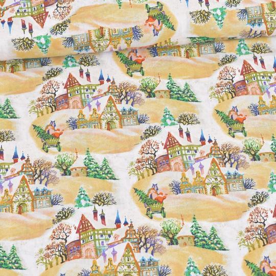 Świąteczna tkanina bawełniana wzór 007