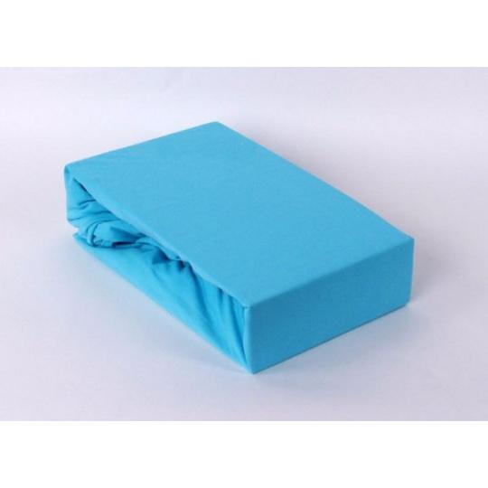 Prześcieradło jersey EXCLUSIVE z gumką 200x220 - Błękitny