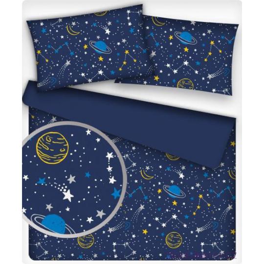 Tkanina bawełniana wzór żółty kosmos