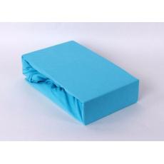 Prześcieradło jersey EXCLUSIVE z gumką 160x200 - Błękitny