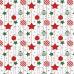 Tkanina bawełniana wzór bombki świąteczne z czerwonymi gwiazdami