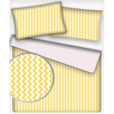 Tkanina bawełniana wzór żółte zygzaki