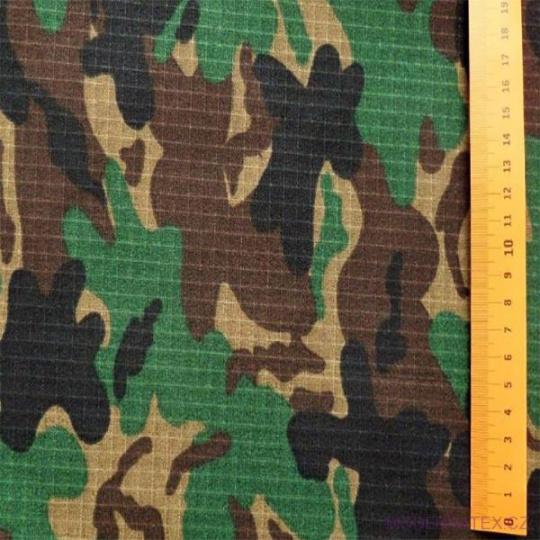 Diagonal bawełniany Zielono - Brązowy