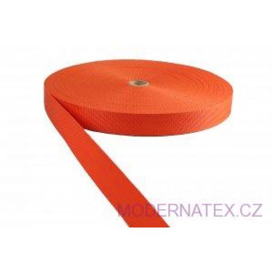 Pas polipropylenowy 25 mm - pomarańczowy