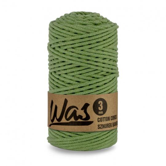 Sznurek bawełniany 3mm, 100m Pistacjowy