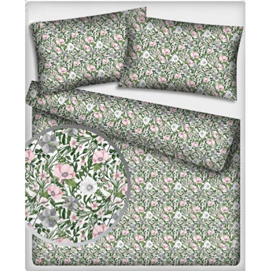 Tkanina bawełniana wzór kwiatuszki na białym tle