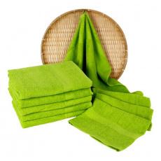 Jasnozielony ręcznik frotte Darsi - 50x100 cm