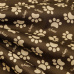 Tkanina wodoodporna KODURA wzór łapki na brązowym tle