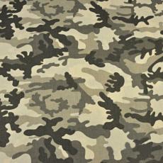 Tkanina bawełniana wzór moro beżowo brązowa