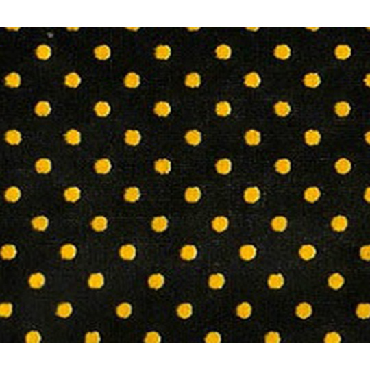 Tkanina bawełniana Żółte groszki 4 mm na czarnym tle