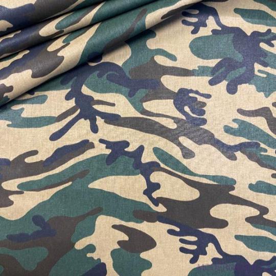 Tkanina bawełniana wzór Moro brązowy
