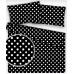 Tkanina bawełniana Białe groszki 10 mm na czarnym tle