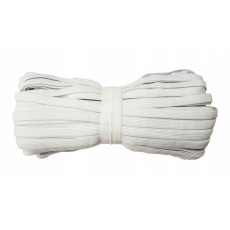 Gumka odzieżowa, szer. 20 mm - Biała, 25 m