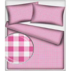Tkanina bawełniana Kostka różowa